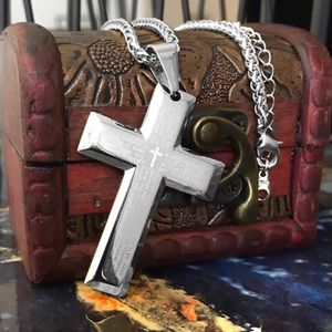 Other - Lord's Prayer Stainless Steel Cross Necklace